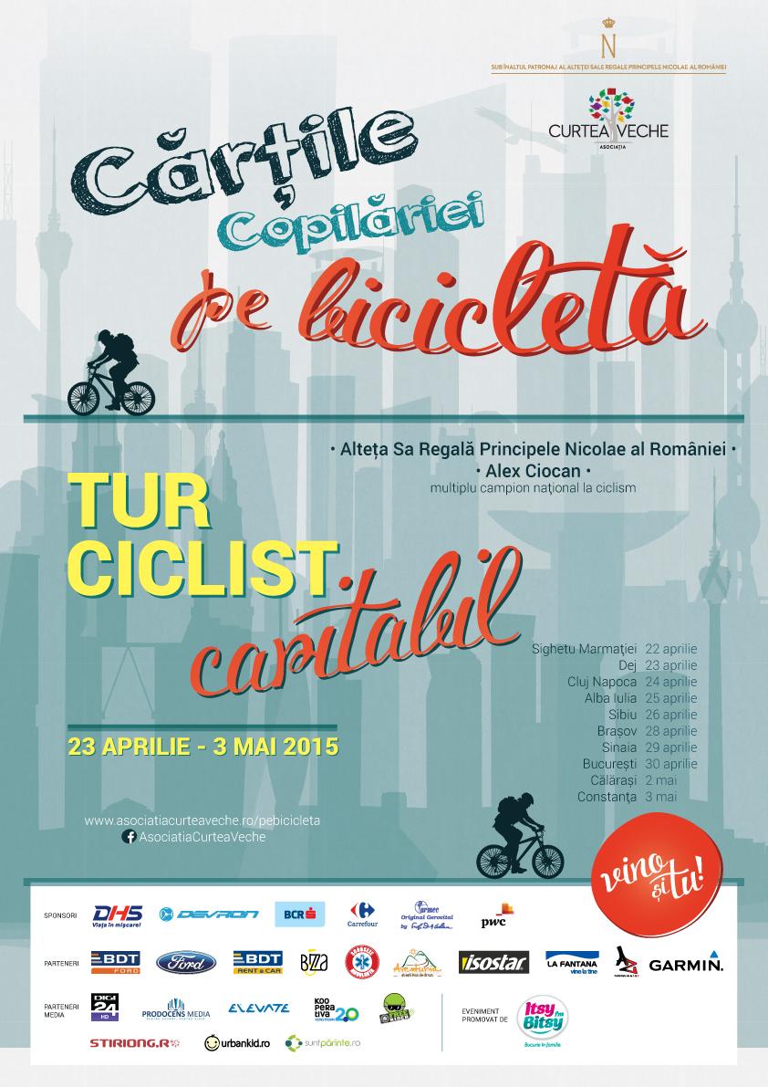 Afis-tur-ciclist-caritabil-Cartile-copilariei-pe-bicicleta